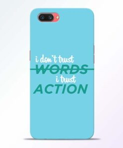 Words Action Oppo A3S Mobile Cover