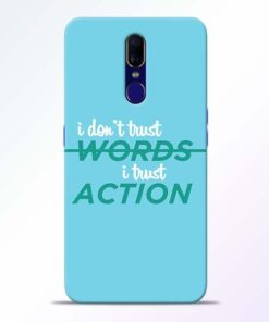 Words Action Oppo F11 Mobile Cover