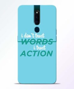 Words Action Oppo F11 Pro Mobile Cover