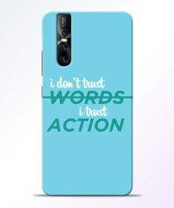 Words Action Vivo V15 Pro Mobile Cover