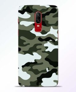 Army Camo OnePlus 6 Mobile Cover