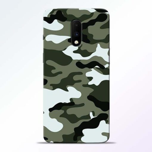 Army Camo OnePlus 7 Mobile Cover
