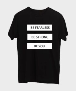 Be Fearless T-shirt for Men - Black