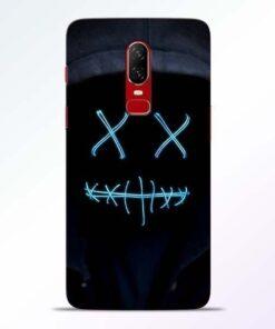 Black Marshmello OnePlus 6 Mobile Cover