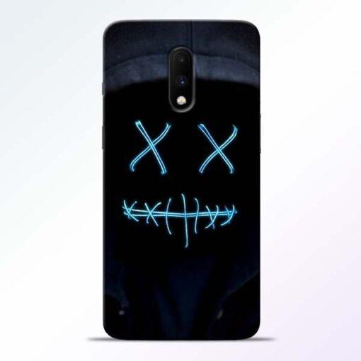 Black Marshmello OnePlus 7 Mobile Cover