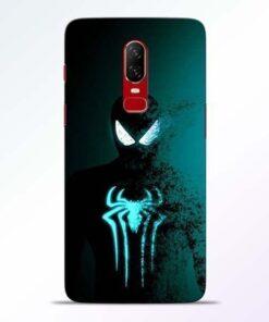 Black Spiderman OnePlus 6 Mobile Cover