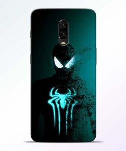 Black Spiderman OnePlus 6T Mobile Cover