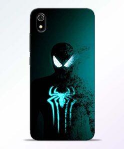 Black Spiderman Redmi 7A Mobile Cover
