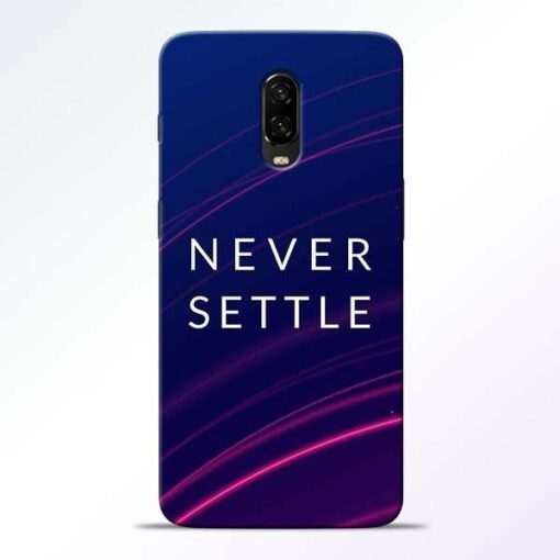 Blue Never Settle OnePlus 6T Mobile Cover