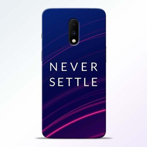 Blue Never Settle OnePlus 7 Mobile Cover