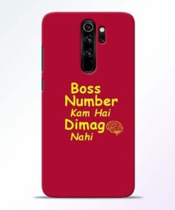 Boss Number Redmi Note 8 Pro Mobile Cover