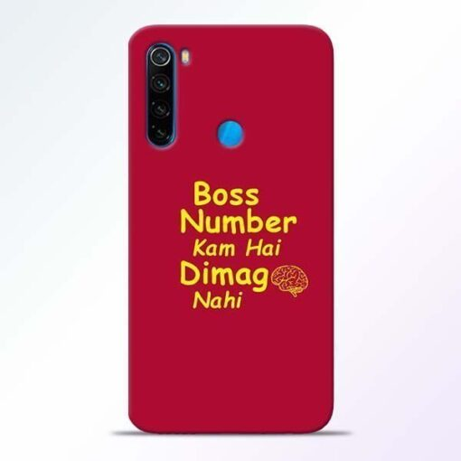 Boss Number Xiaomi Redmi Note 8 Mobile Cover