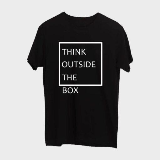 Think Outside T-shirt for Men - Black