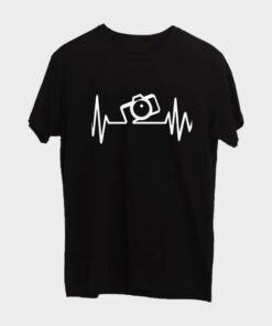 Camera T-shirt for Men - Black