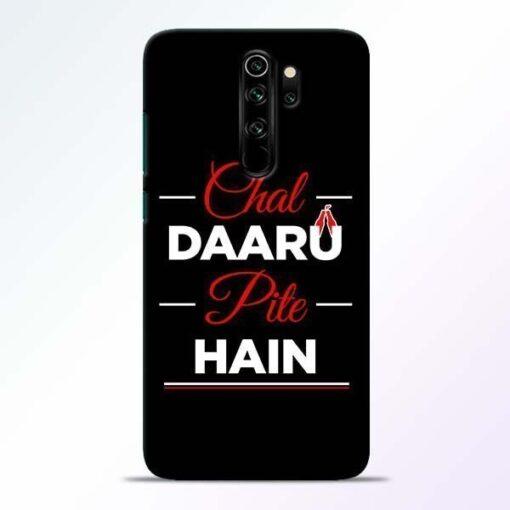 Chal Daru Pite H Redmi Note 8 Pro Mobile Cover