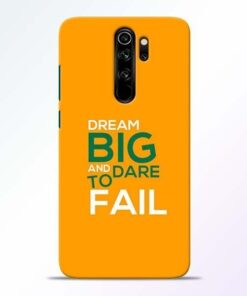Dare to Fail Redmi Note 8 Pro Mobile Cover
