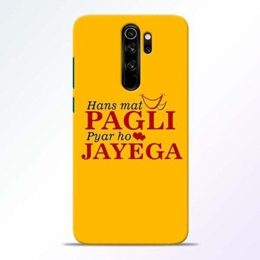 Hans Mat Pagli Redmi Note 8 Pro Mobile Cover
