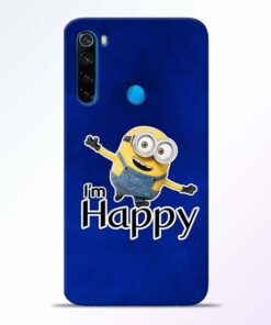 I am Happy Minion Xiaomi Redmi Note 8 Mobile Cover