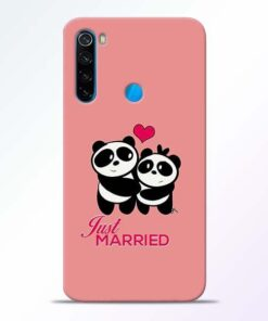 Just Married Xiaomi Redmi Note 8 Mobile Cover