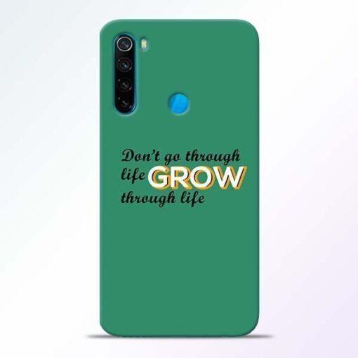 Life Grow Xiaomi Redmi Note 8 Mobile Cover