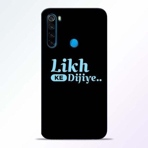 Likh Ke Dijiye Xiaomi Redmi Note 8 Mobile Cover