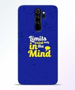 Limits Exist Redmi Note 8 Pro Mobile Cover
