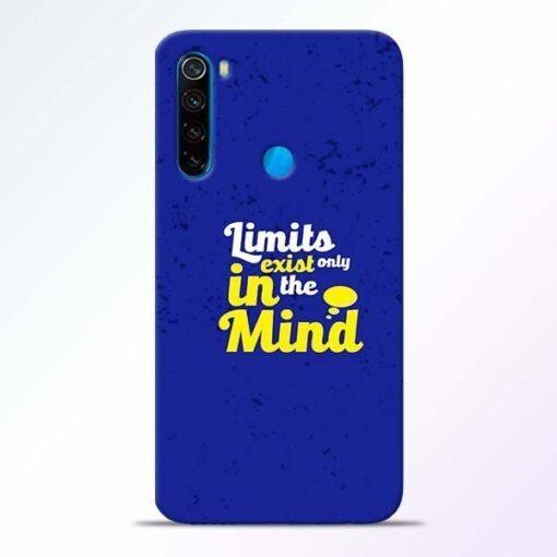 Limits Exist Xiaomi Redmi Note 8 Mobile Cover