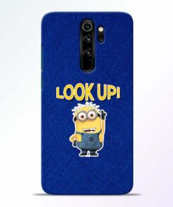 Look Up Minion Redmi Note 8 Pro Mobile Cover