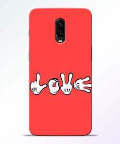 Love Symbol OnePlus 6T Mobile Cover