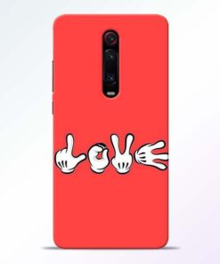 Love Symbol Redmi K20 Mobile Cover