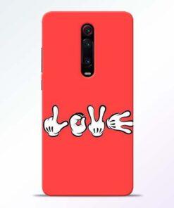 Love Symbol Redmi K20 Pro Mobile Cover