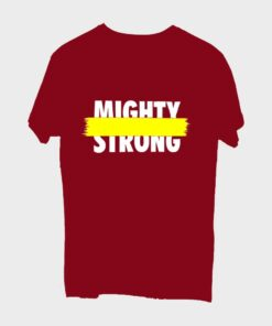 Mighty Strong T-shirt for Men - Mehroon