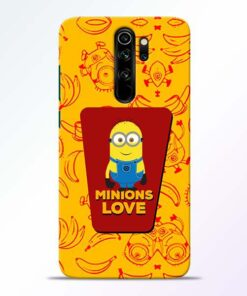Minions Love Redmi Note 8 Pro Mobile Cover