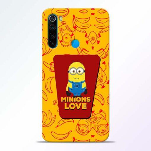Minions Love Xiaomi Redmi Note 8 Mobile Cover