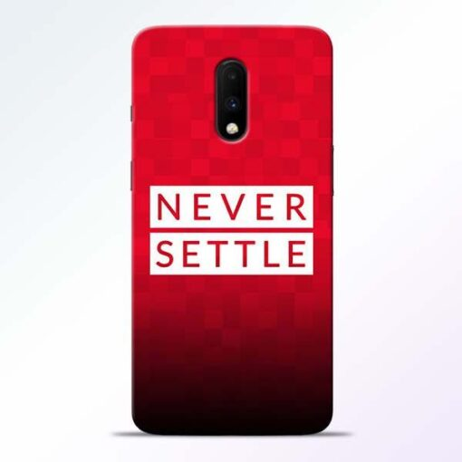 Never Settle OnePlus 7 Mobile Cover