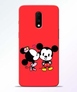 Red Cute Mouse OnePlus 7 Mobile Cover