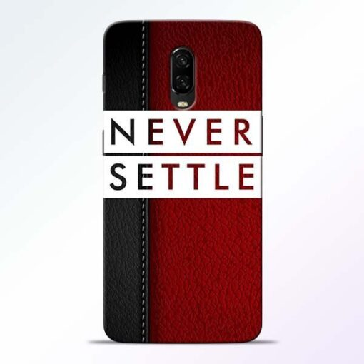 Red Never Settle OnePlus 6T Mobile Cover