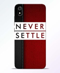 Red Never Settle Redmi 7A Mobile Cover