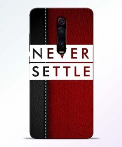 Red Never Settle Redmi K20 Mobile Cover