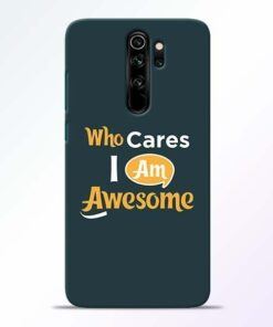 Who Cares Redmi Note 8 Pro Mobile Cover