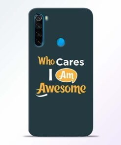 Who Cares Xiaomi Redmi Note 8 Mobile Cover
