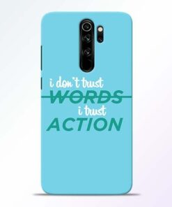 Words Action Redmi Note 8 Pro Mobile Cover