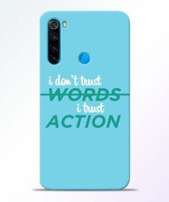 Words Action Xiaomi Redmi Note 8 Mobile Cover