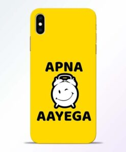 Apna Time Ayega iPhone XS Max Mobile Cover