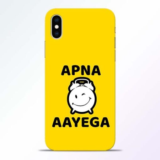 Apna Time Ayega iPhone XS Mobile Cover
