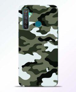 Army Camo RealMe 5 Pro Mobile Cover - CoversGap