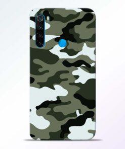 Army Camo Redmi Note 8 Mobile Cover