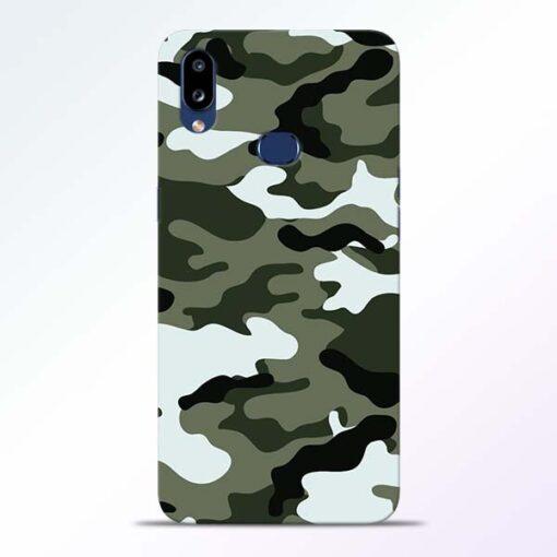 Army Camo Samsung Galaxy A10s Mobile Cover