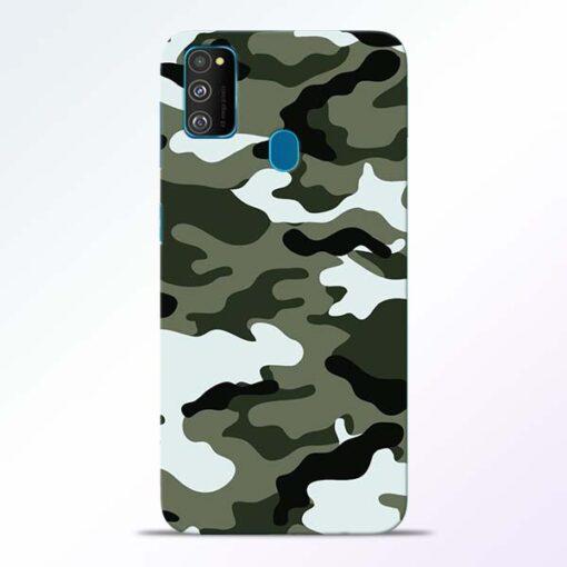 Army Camo Samsung Galaxy M30s Mobile Cover