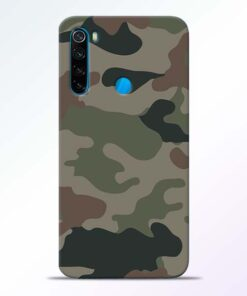 Army Camouflage Redmi Note 8 Mobile Cover